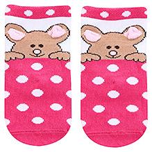 Mustang Ankle Length Bear Print Socks - Size 1