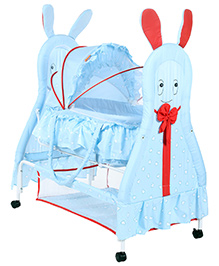 Fab N Funky Baby Cradle Blue - Rabbit Design