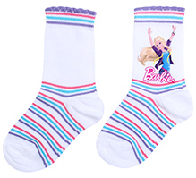 Barbie Ankle Length Printed Socks - Size 1