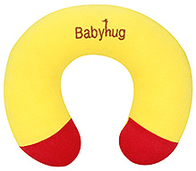 Babyhug Plush Neck Pillow - Yellow