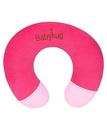 Babyhug Plush Neck Pillow - Dark Pink