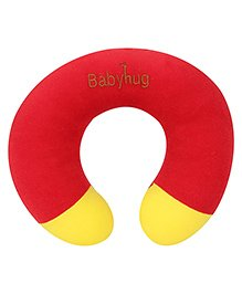 Babyhug Plush Neck Pillow - Red