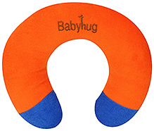 Babyhug Plush Neck Pillow - Orange