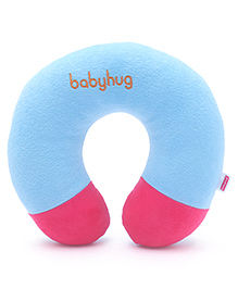 Babyhug Plush Neck Pillow - Sky Blue