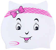 Freestyle Silicone Cartoon Print Swim Cap