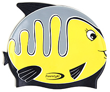 Freestyle Silicone Fish Print Swim Cap