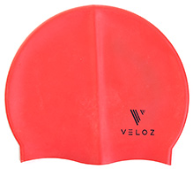 Veloz Silicon Plain Swim Cap