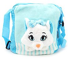 Play N Pets Cat Design Shoulder Bag- Blue