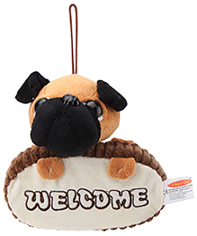 Play N Pets Sitting Bull Dog Door Hanger- Black and Brown