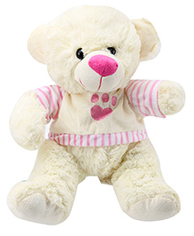 Play N Pets Teddy Bear- Pink and White