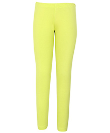 Dreamszone Full Length Plain Leggings - Lime Yellow