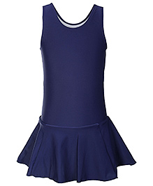Veloz Sleeveless Frock Style Swim Wear - Navy Blue