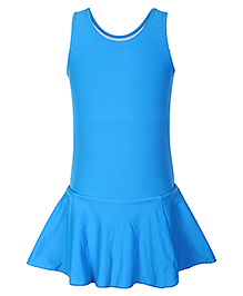 Veloz Sleeveless Frock Style Swim Wear - Sky Blue