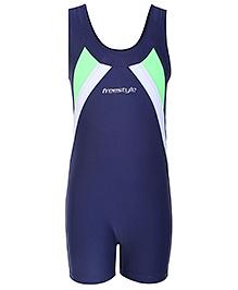 Freestyle Sleeveless Legging Style Swim Wear - Navy Blue