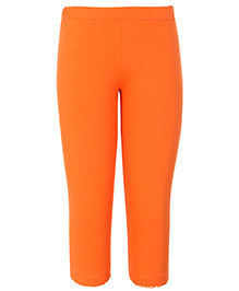 Dreamszone 3/4th Length Leggings with Picoting - Orange