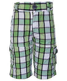 Dreamszone Tartan Plaid Check Print Shorts Green