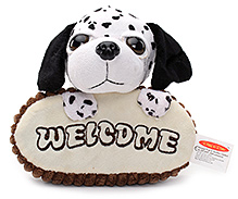 Play N Pets Doggy Soft Toy Door Hanger - Black and White