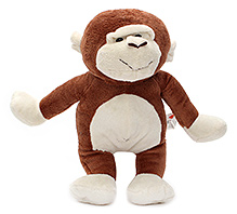 Play N Pets Monkey Soft Toy Brown - 28 cm