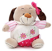 Play N Pets Doggy Soft Toy with Clothes Brown - 18 cm