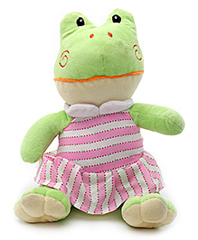 Play N Pets Froggy Soft Toy with Clothes Green - 20cm