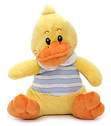 Play N Pets Duck Soft Toy with Clothes Yellow - 20cm