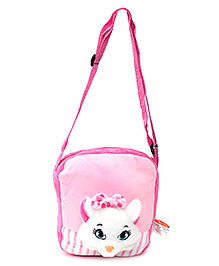Play N Pets Cat Design Shoulder Bag- Pink