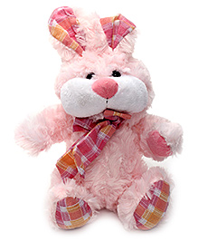 Play N Pets Bunny Rabbit Soft Toy with Scarf Pink- 19 cm