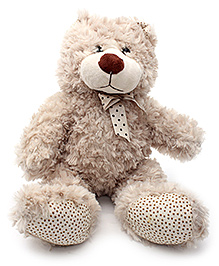 Play N Pets Teddy Bear Soft Toy with Ribbon Cream - 32 cm
