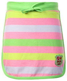SAPS Stripe Pattern Skirt With Attached Shorts Green - Surfer Girl Patch