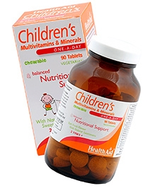 Health Aid Childrens Multi Vitamins and Minerals Chewable Tablets - 90
