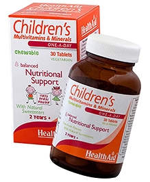 HealthAid Childrens Multi Vitamins and Minerals Chewable Tablets - 30