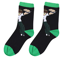 Ben 10 Ankle Length Printed Socks Black