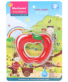 Morisons Baby Dreams Water Filled Toy Teether - Apple Shape - 4 Month+