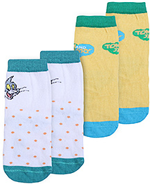 Tom and Jerry Printed Socks - Pack Of 2