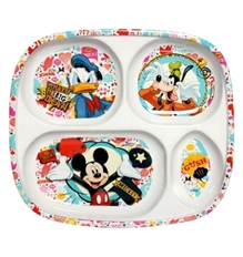 Four Section Plate - Mickey Mouse & Friends