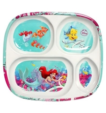 Four Section Plate - Disney Princess Little Mermaid