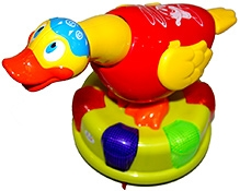 Adraxx Duck Toy With Throw Rings