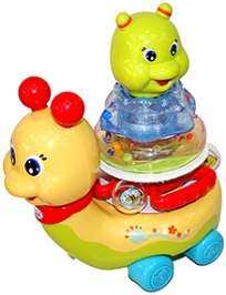 Adraxx Stacking Snail Car Toy With Flashing Light
