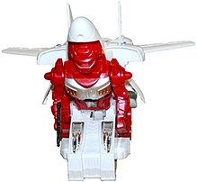 Adraxx Automatic Transforming Airplane Robot- Red