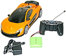 Adraxx Futuristic Concept Remote Control Racing Car Coupe Model- Yellow