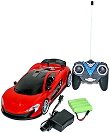 Adraxx Futuristic Concept Remote Control Racing Car Coupe Model- Red