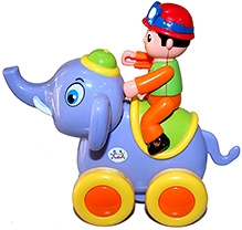 Adraxx Swing Elephant Riding Jungle Explorer Toy Car