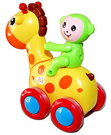 Adraxx Swinging Smart Deer And Monkey Rider Toy Car