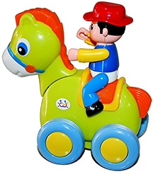 Adraxx Swinging Cute Pony Riding Cowboy Toy Car