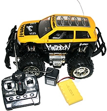 Adraxx 1:14 Scale RC Monster Truggy Car - Yellow