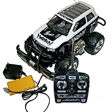Adraxx Remote Control Monster Truggy - Black and White