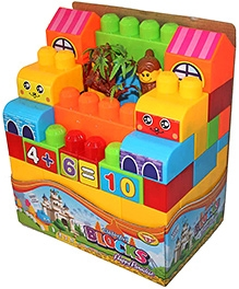 Adraxx Colourful Castle Building Blocks Set- 52 Blocks