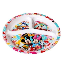 Three Section Plate - Mickey