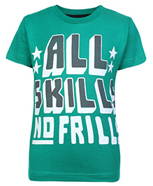 SAPS Short Sleeves T Shirt Green -  All Skills No Frills Print