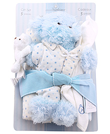 Piccolo Bambino Blanket and Toy Gift Set- 5 Pieces